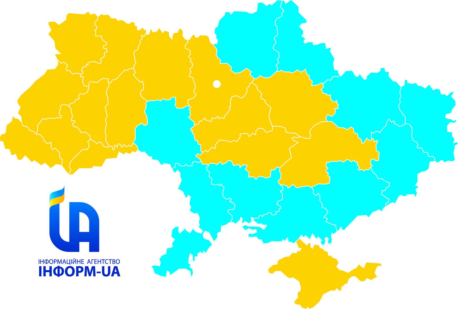 Карта областей Украины военного положения