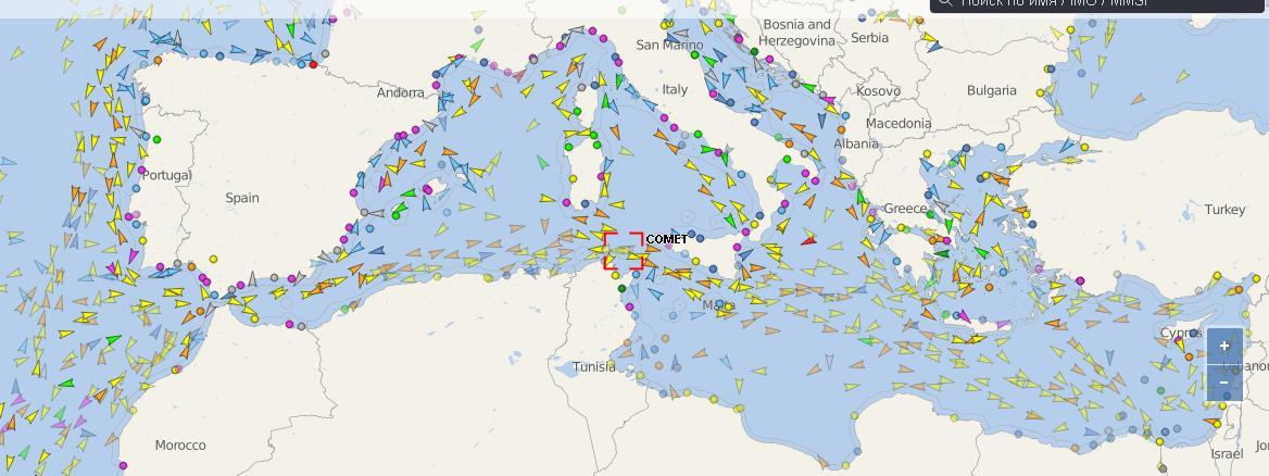 карта судно