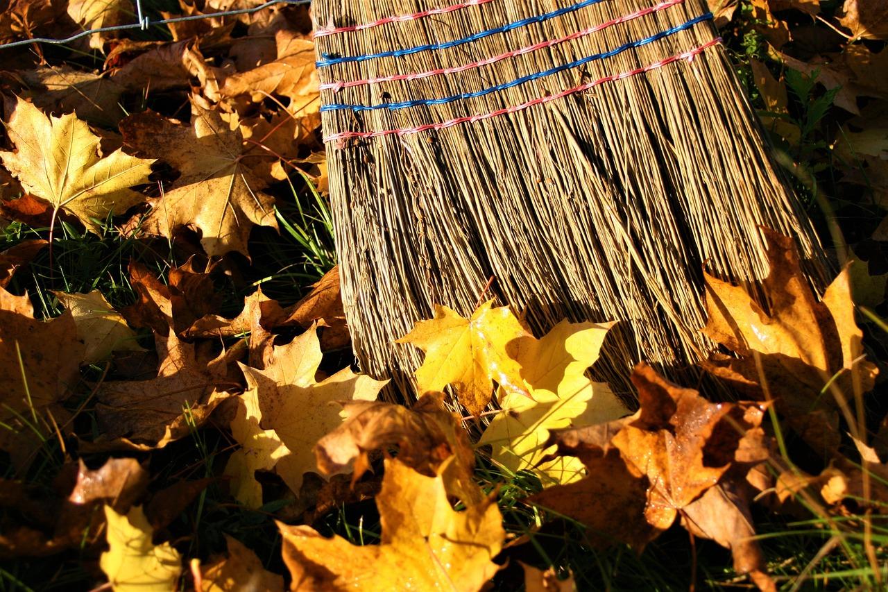 уборка листья