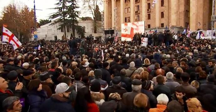 митинг грузия