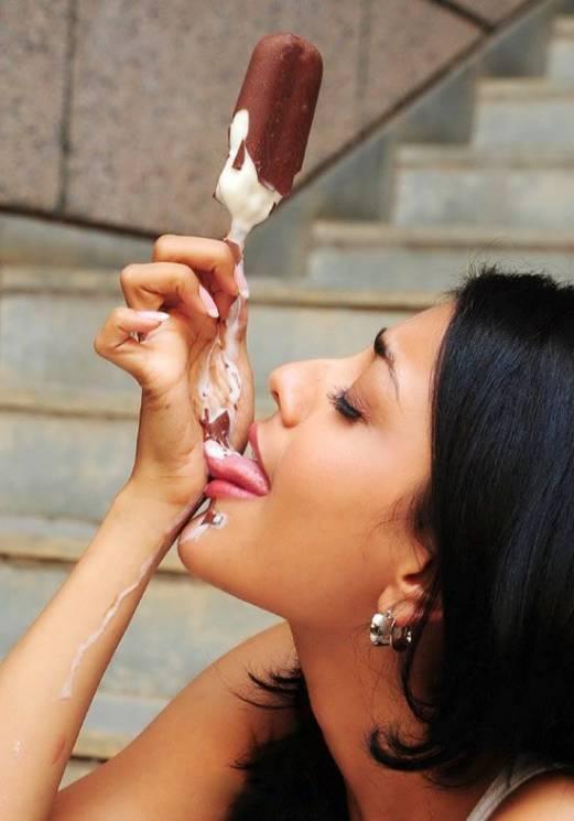 мороженое потекло