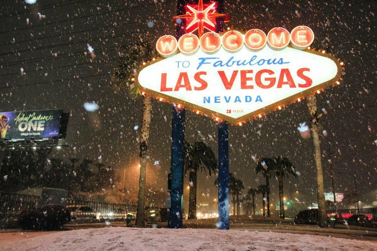 Лас-Вегас в снегу