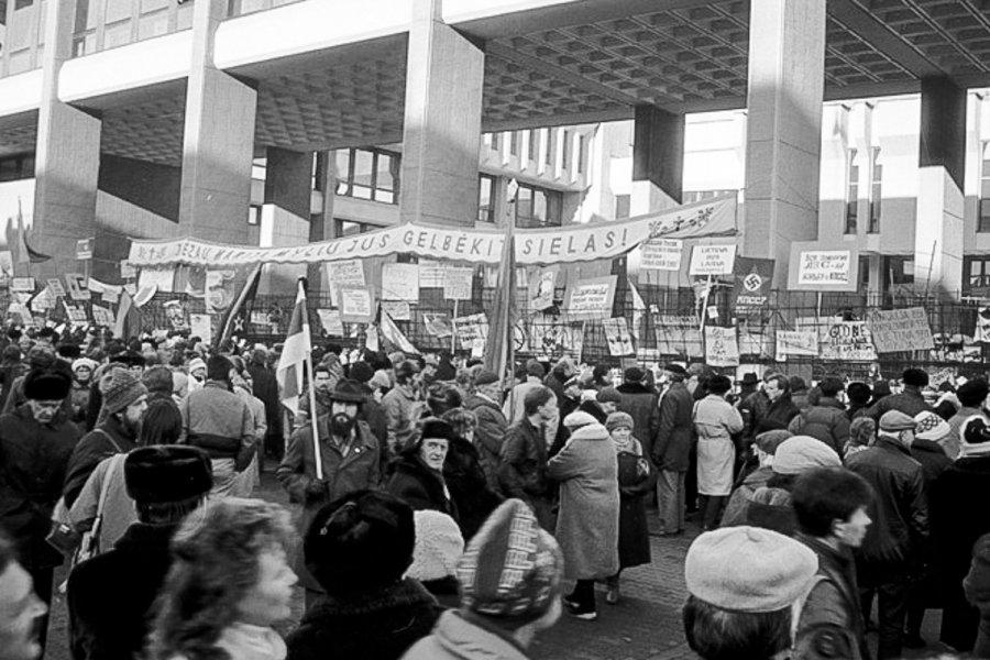 акции протеста в Литве