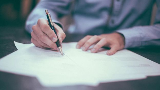 подпись договора