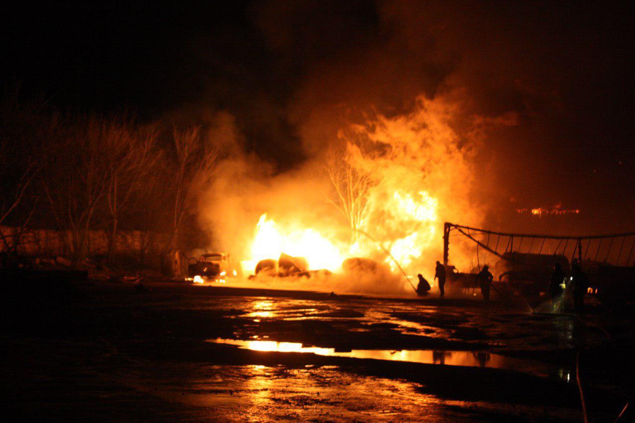 Пожар в Кропивницком