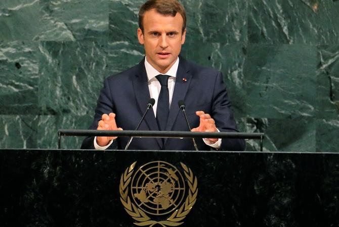 Макрон в ООН