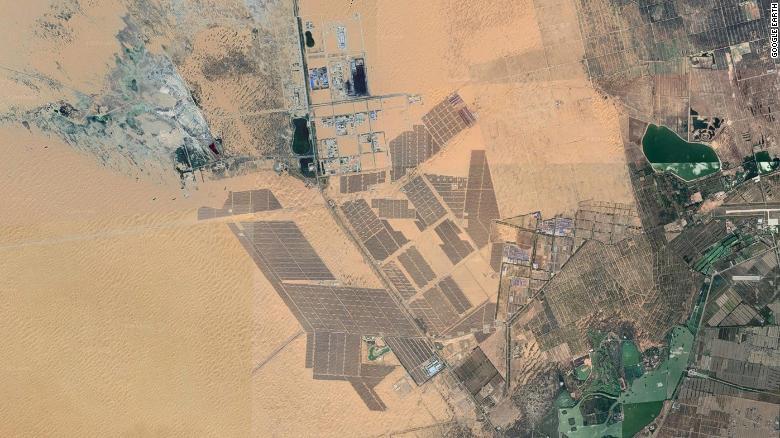 Парк из солнечных батарей