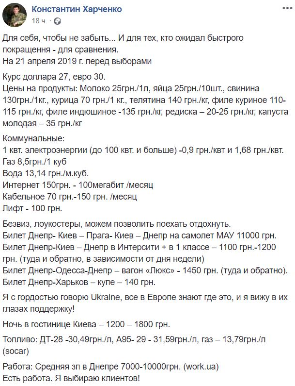 пост Харченко