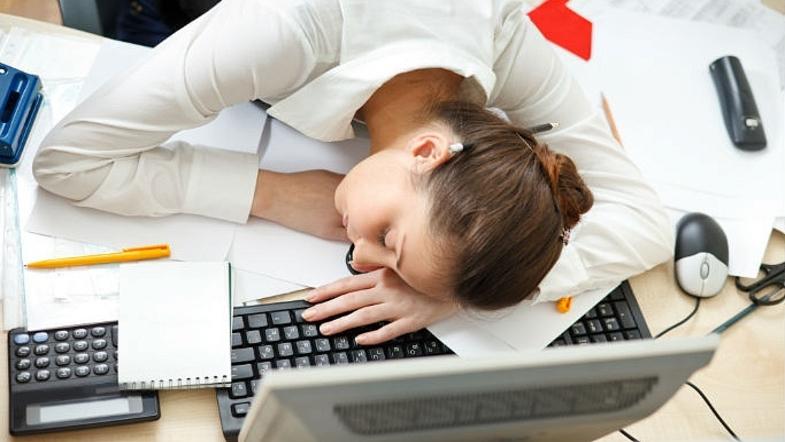 Усталость на работе.