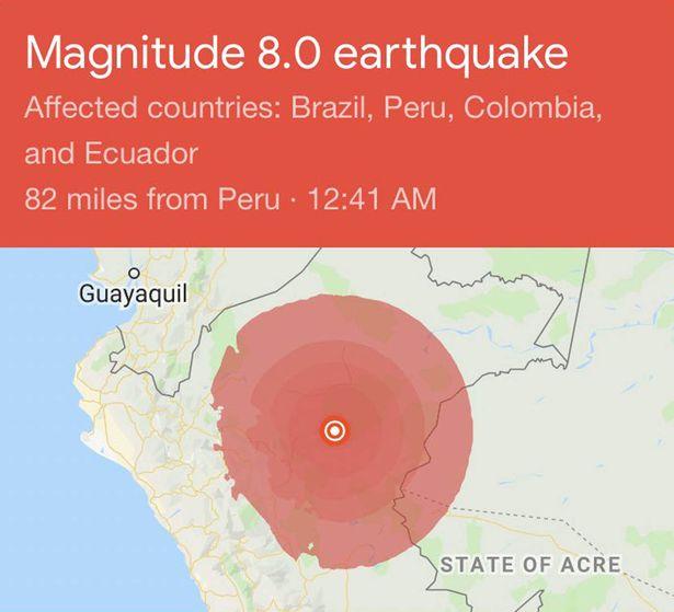 карта землетрясения