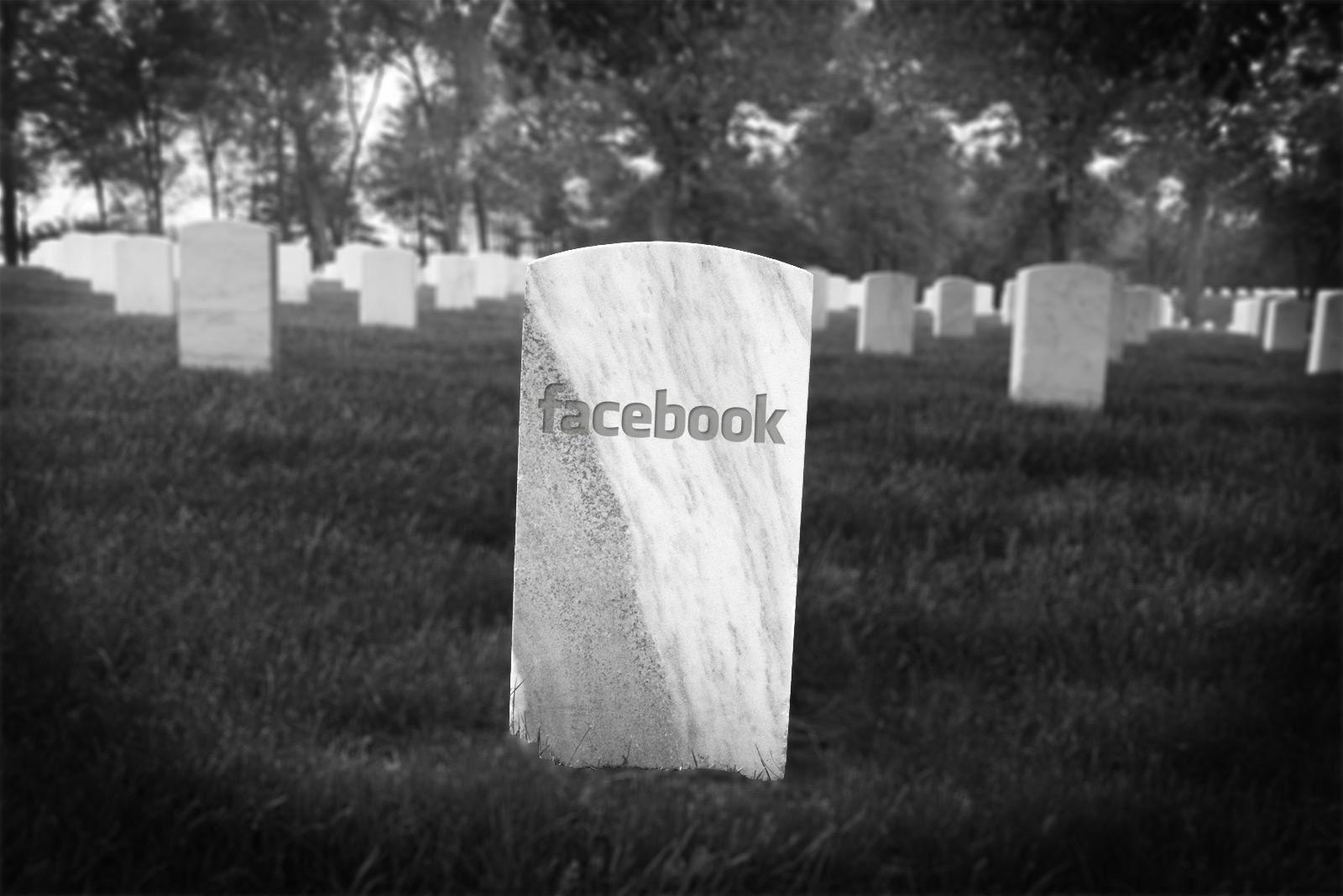 Facebook смерть.