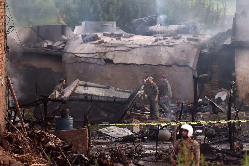 разрушения от падения самолета