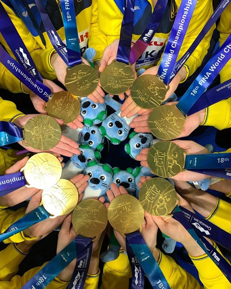 Золотые медали плавание