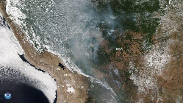 дым от огня Бразилия