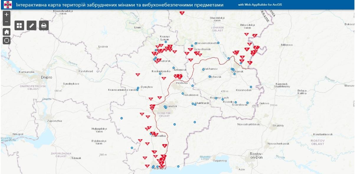 карта мин Украина