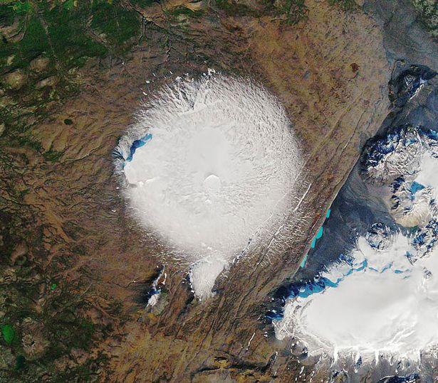 ледник из космоса