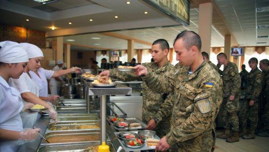 питание военнослужащих