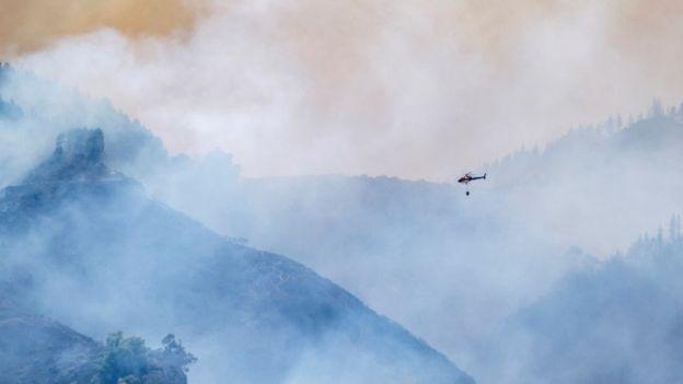 пожар вертолет