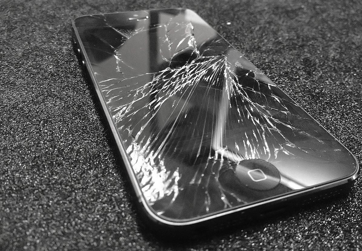 разбитый айфон смешная картинка цветы
