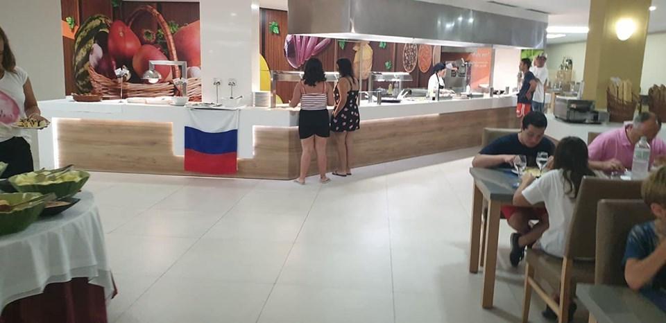 российский флаг в отеле