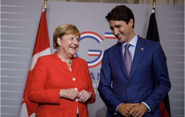 Трюдо и Меркель