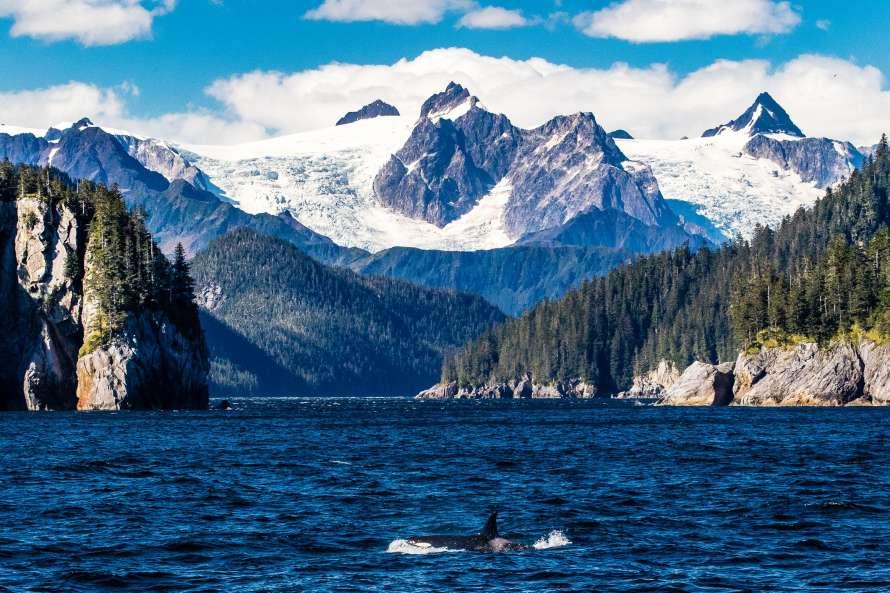 Аляска горы море