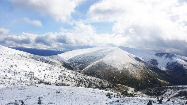 горы снег заморозки