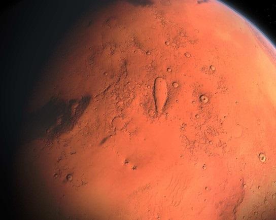 Марс лавина