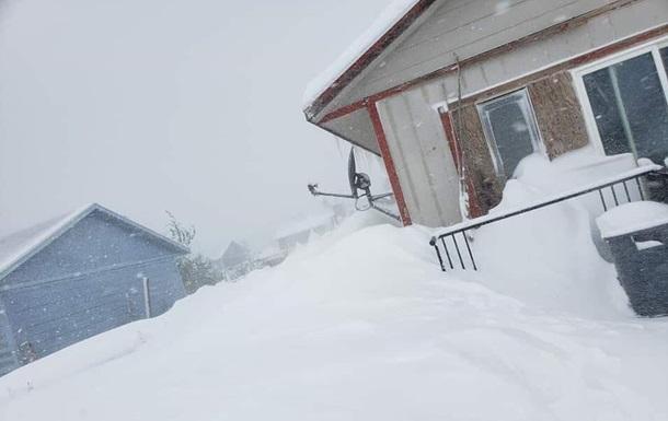 снег дом