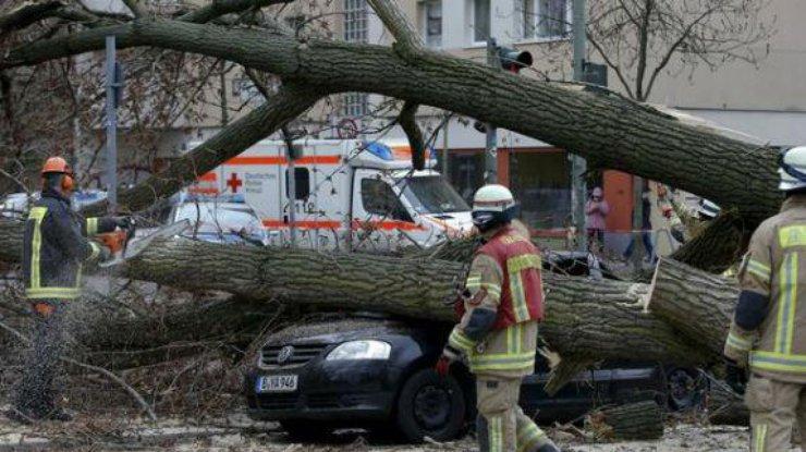 ураган в Германии