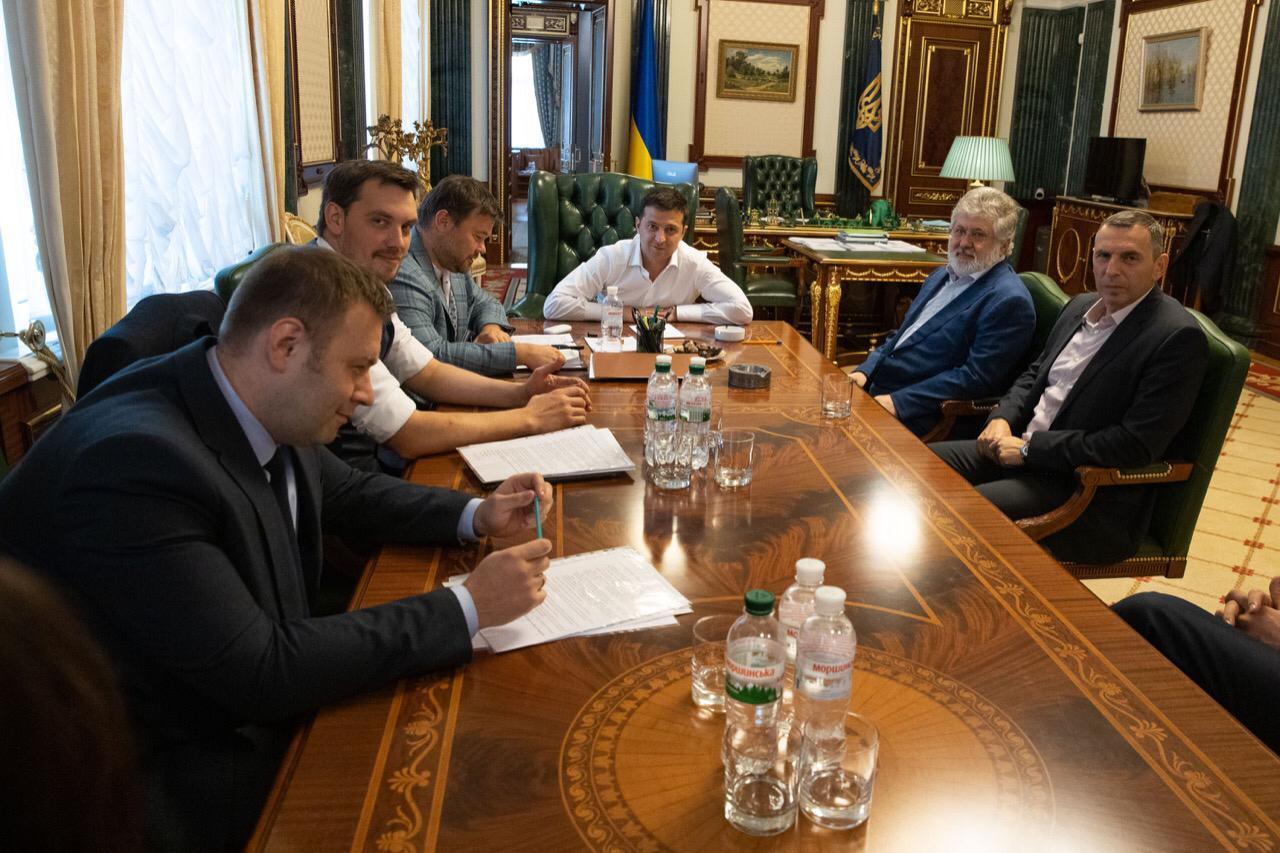 встреча Зелнского и Коломойского