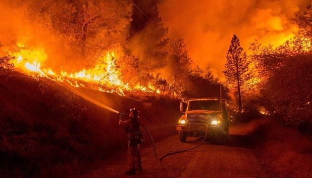 пожары в Килифорнии