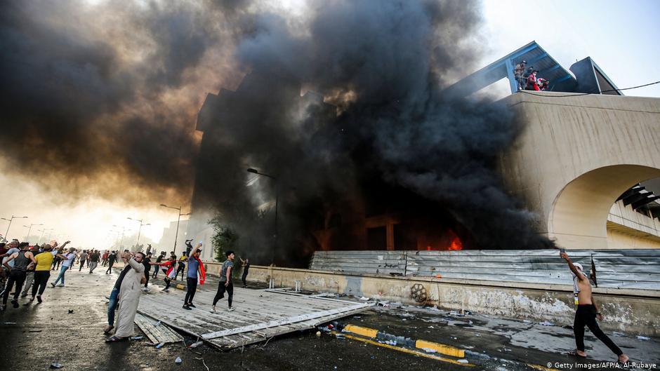 протест в багдаде