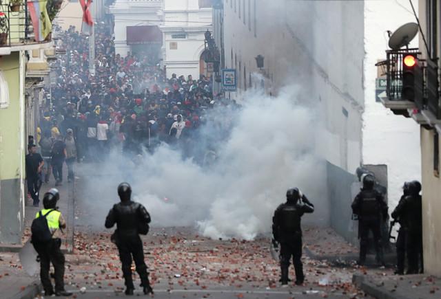 протесты Эквадор