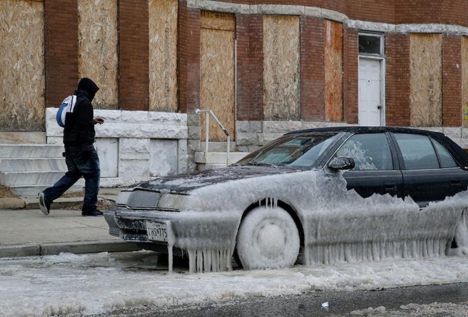 морозы в Америке.