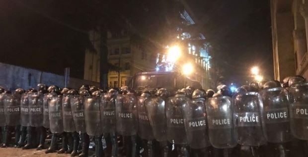 В Тбилиси ночью разогнали акцию протеста