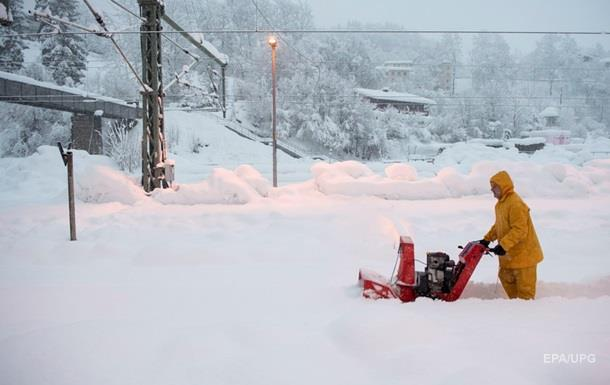 снегопады австрия
