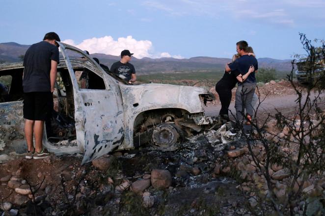 сожжёное авто