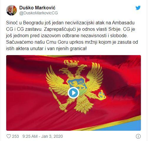 Душко Маркович о протестах