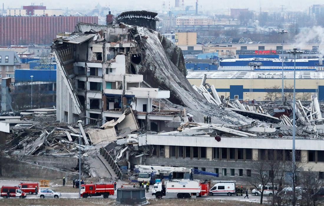 Питербург обрушение комплекса
