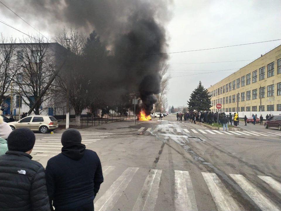 протесты в Каховке