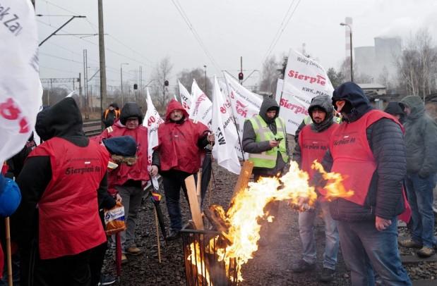 забастовка горняков