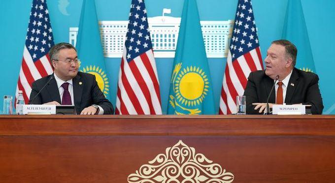 Помпео в Казахстане