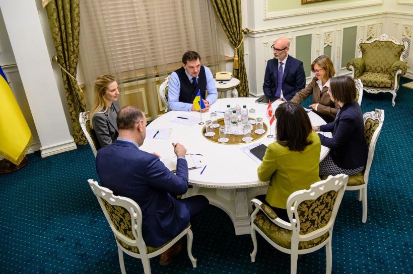встреча Гончарука с представителями Канады