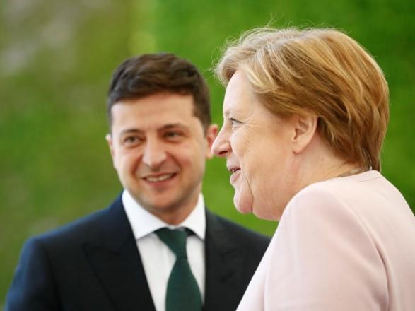 Зеленский и Меркель