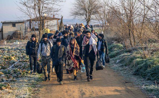 беженцы идут в ЕС
