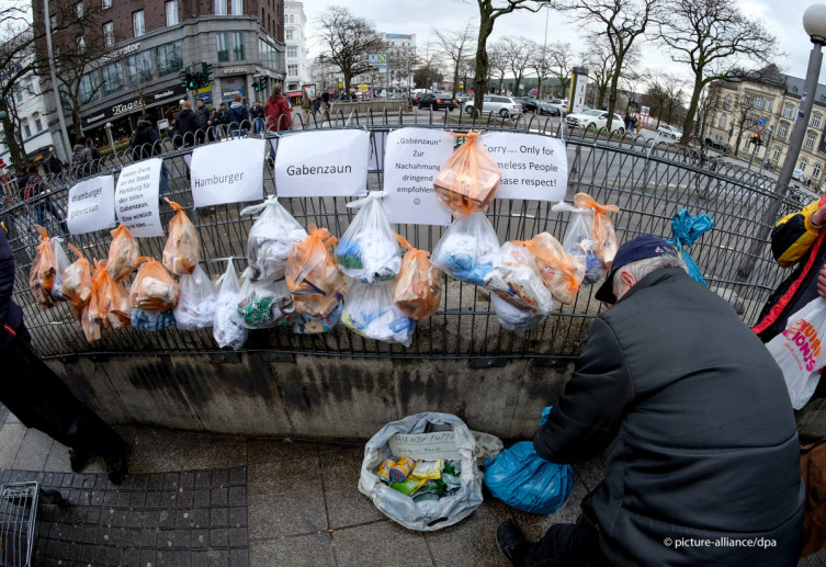 Помощь бездомным Германии.
