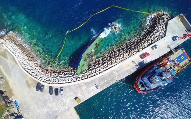 На берег греческого острова выбросило судно с 190 мигрантами на борту
