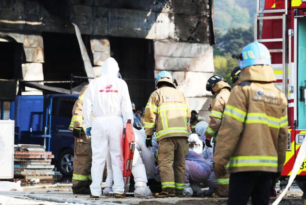 пожар в Сеуле