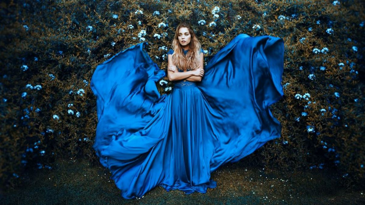 синий в моде